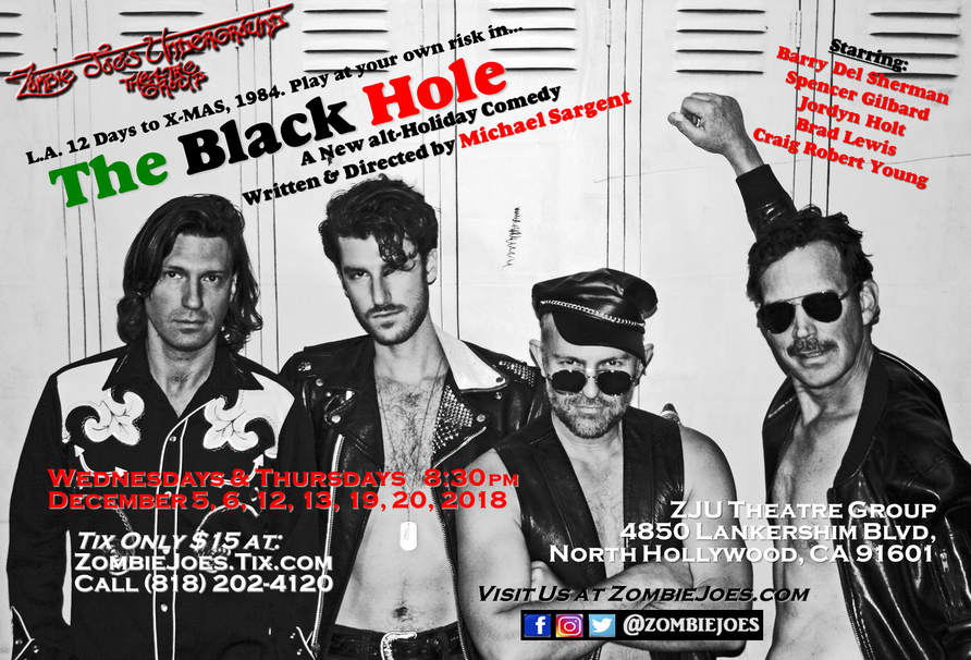 THE BLACK HOLE holiday comedy in an underground club for men